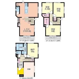 3SLDK House in Yokomizo - Mizuma-gun Oki-machi Floorplan
