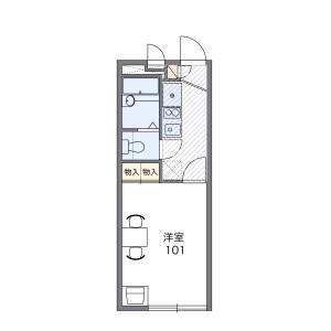 1K Apartment in Nagayoshinagaharanishi - Osaka-shi Hirano-ku Floorplan