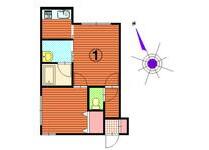 1DK Apartment to Rent in Sapporo-shi Shiroishi-ku Floorplan