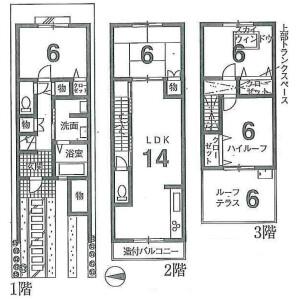 京都市東山區本町-4LDK{building type} 房間格局