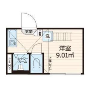1R Apartment in Gohongi - Meguro-ku Floorplan