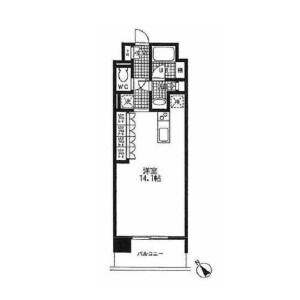 1R Apartment in Nishiazabu - Minato-ku Floorplan