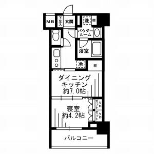 1DK Mansion in Ikejiri - Setagaya-ku Floorplan