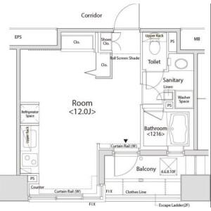 品川区西五反田-1R公寓大厦 楼层布局