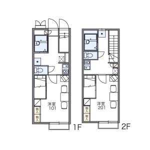 習志野市津田沼-1K公寓 楼层布局