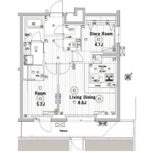 1SLDK Mansion in Yoyogi - Shibuya-ku Floorplan