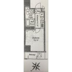 1R {building type} in Kandatomiyamacho - Chiyoda-ku Floorplan