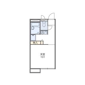 1K Apartment in Minamicho - Kokubunji-shi Floorplan