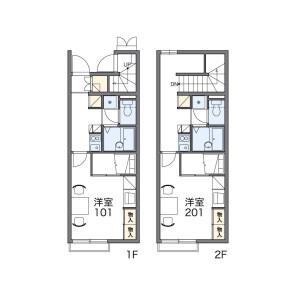 1K Apartment in Miyazawacho - Akishima-shi Floorplan