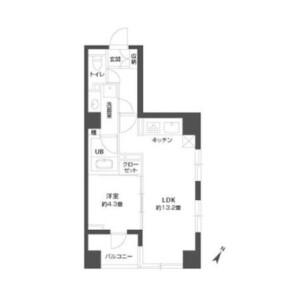 1LDK Mansion in Minato - Chuo-ku Floorplan