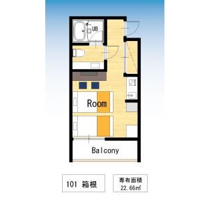 台東區浅草-1R公寓大廈 房間格局
