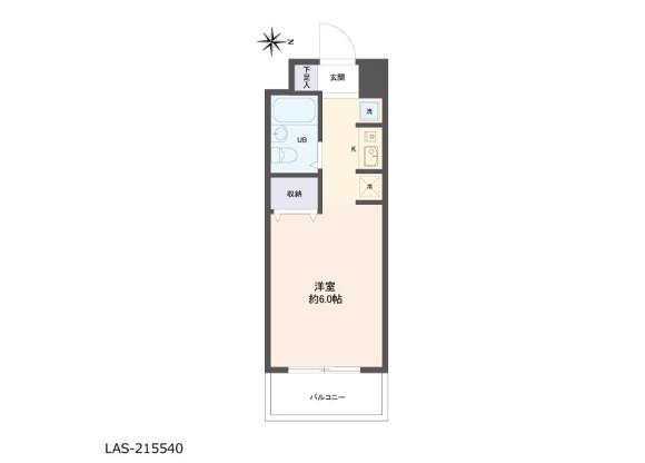 1R Apartment to Buy in Kawasaki-shi Tama-ku Floorplan