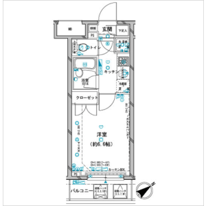 1K Mansion in Ginza - Chuo-ku Floorplan