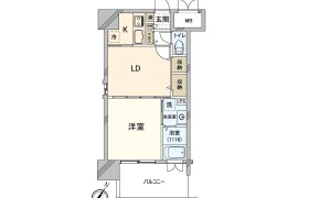 1LDK Apartment in Yakuin - Fukuoka-shi Chuo-ku