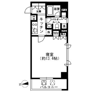 1K Mansion in Arakicho - Shinjuku-ku Floorplan