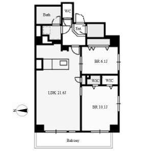 2LDK Apartment in Meiekiminami - Nagoya-shi Nakamura-ku Floorplan