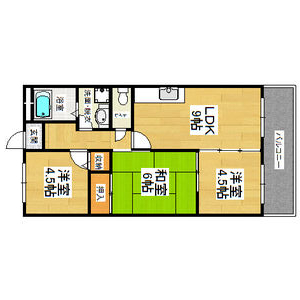 3LDK Mansion in Fukumanjicho minami - Yao-shi Floorplan