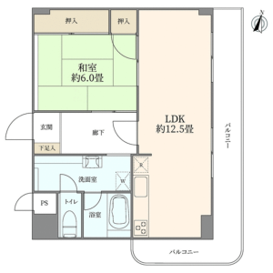 1LDK {building type} in Hatagaya - Shibuya-ku Floorplan