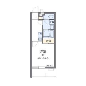 1K Mansion in Murokawa - Okinawa-shi Floorplan