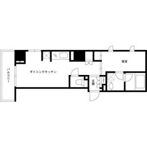 1DK Mansion in Ginza - Chuo-ku Floorplan