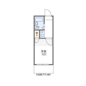 1K Apartment in Yoyogi - Shibuya-ku Floorplan