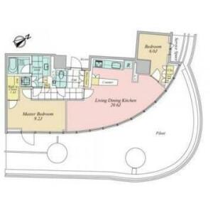 2LDK {building type} in Minamiaoyama - Minato-ku Floorplan