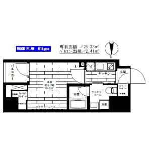 1K Mansion in Kuramae - Taito-ku Floorplan