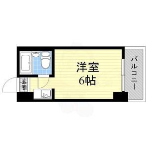 1K Mansion in Imaichi - Osaka-shi Asahi-ku Floorplan