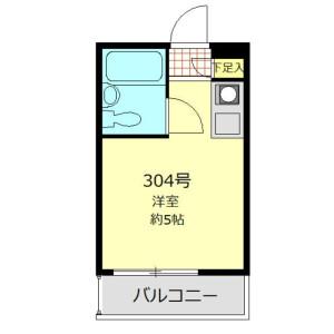 港区白金台-1R公寓大厦 楼层布局