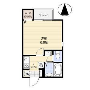 1K Apartment in Narimasu - Itabashi-ku Floorplan