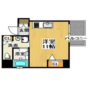 1K Mansion in Kozu - Osaka-shi Chuo-ku Floorplan