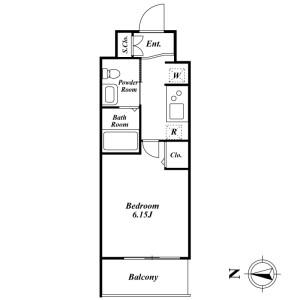 1K Mansion in Azumabashi - Sumida-ku Floorplan