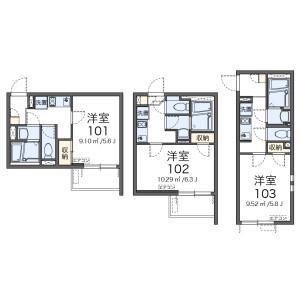 1K Apartment in Wakagi - Itabashi-ku Floorplan