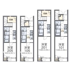 1K Apartment in Tateishi - Katsushika-ku Floorplan
