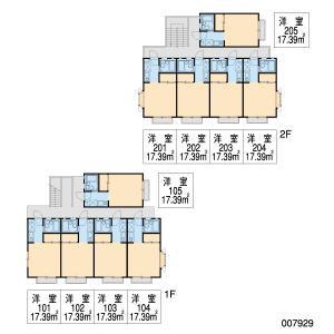 1K Apartment in Oyamadacho - Kawachinagano-shi Floorplan