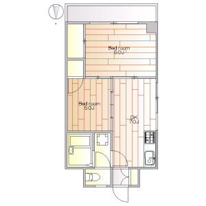 2DK Apartment in Kamiuma - Setagaya-ku Floorplan