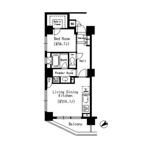 1LDK Mansion in Sakamachi - Shinjuku-ku Floorplan