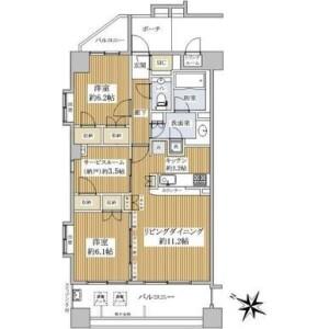 2LDK {building type} in Shinsencho - Shibuya-ku Floorplan