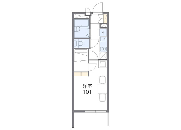 1K Apartment to Rent in Seto-shi Floorplan