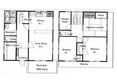 3SLDK House to Rent in Yokosuka-shi Floorplan