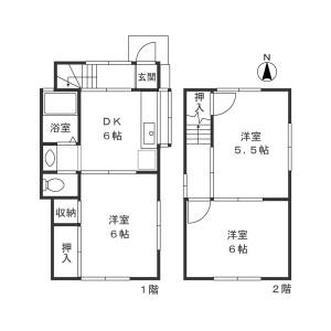 3DK Apartment in Keyakidaira - Kawasaki-shi Miyamae-ku Floorplan