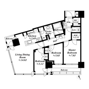 3LDK {building type} in Shibaura(1-chome) - Minato-ku Floorplan