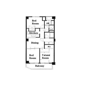 3DK Mansion in Yayoicho - Nakano-ku Floorplan