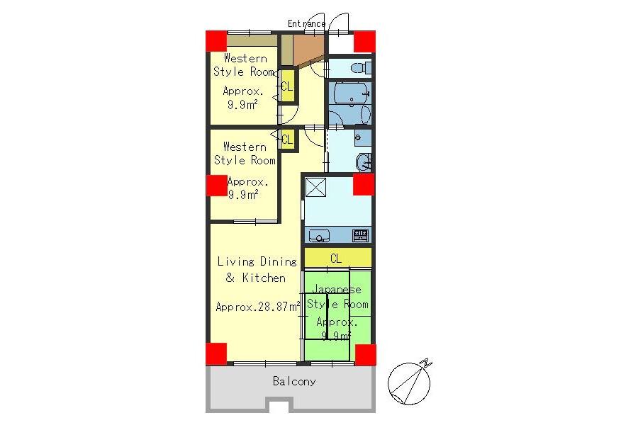 3LDK Apartment to Buy in Kyoto-shi Minami-ku Floorplan