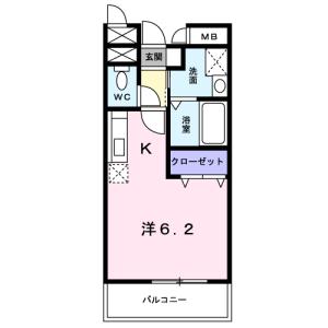 1K Mansion in Kanamachi - Katsushika-ku Floorplan