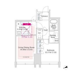新宿區西新宿-1LDK公寓 房間格局