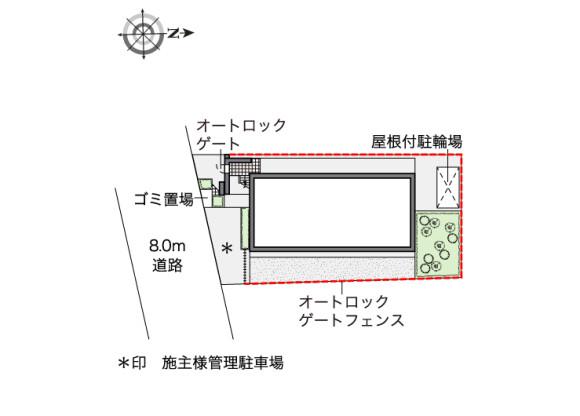 在大田区内租赁1K 公寓 的 楼层布局