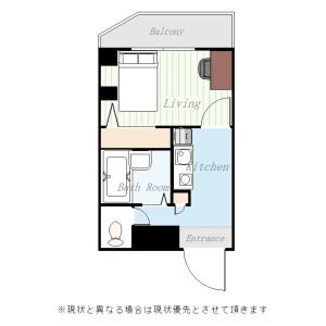 1K Mansion in Kandajimbocho - Chiyoda-ku Floorplan