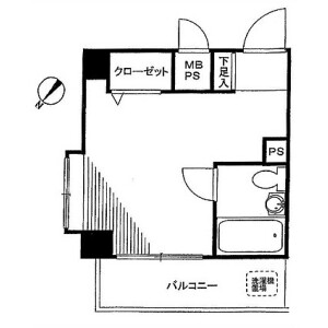1R Mansion in Maganecho - Yokohama-shi Minami-ku Floorplan