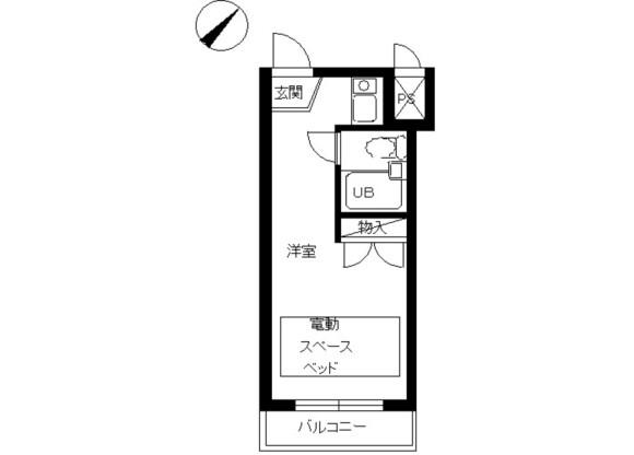 1R Apartment to Rent in Arakawa-ku Floorplan